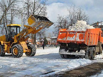 Вывоз снега в Климовске