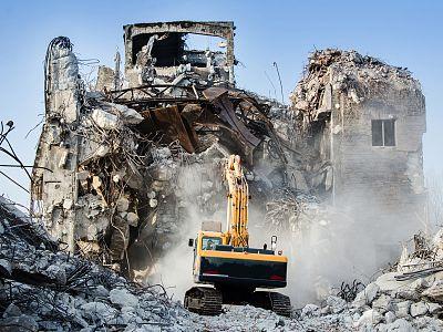 Снос зданий в Климовске